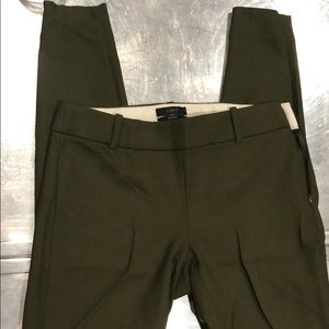JCREW Minnie skinny leg size 00 olive pants